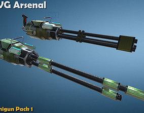 3D model Minigun pack 1