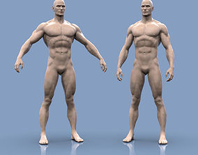 3D print model Base mesh male body