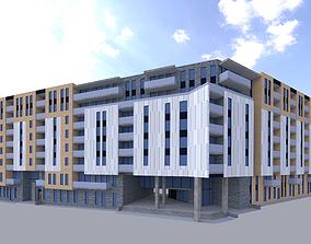 3D asset 4650 Rue Saint-Jacques Montreal Canada - Building