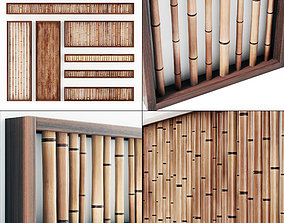 3D model Bamboo branch wall