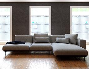 sofa - scandinavian style - photorealist - Muuto 3D model