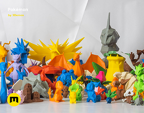 All Pokemon - Low-poly Set 3D print model