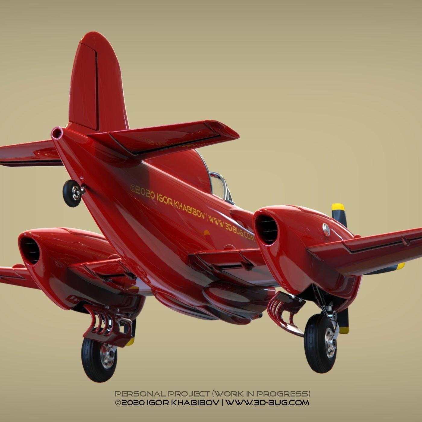 Fatty comic airplane