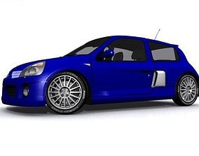 Renault Clio 3D asset low-poly