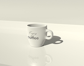 Empty coffee cup 3D