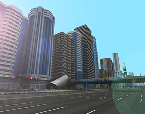 realtime Dubai Towers Building 3D Pack - Sheikh Zayed