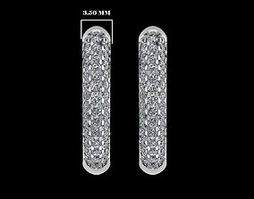 3D model Silver Hoop Earrings