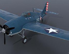 GRUMMAN F4F-3 WILDCAT F3 -Butch- 3D