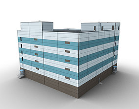 3D asset Car Parking Building 5