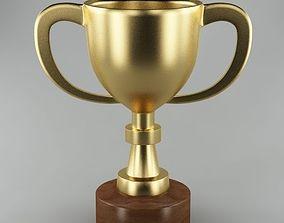 3D model Trophy 01 gold reward