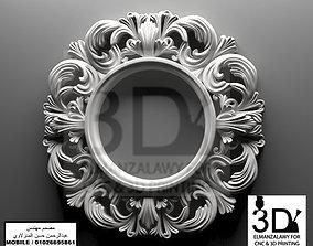 mirror frame 3d model decoration