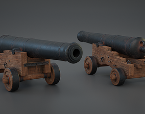 3D model game-ready PBR Cannon