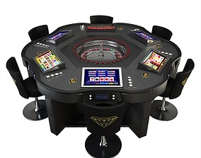 3D model Game Table - Roulette Wheel Royal Crown
