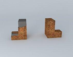 Derelict WWII-Style Brick Gate 3D asset