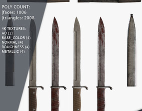 3D model German Bayonets Knife WW Game Ready