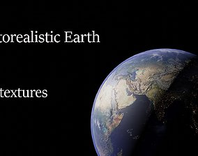 3D model animated Photorealistic Earth