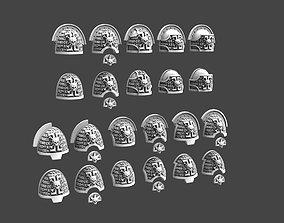 3D printable model Deathvigil Shoulderpads