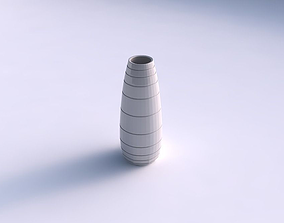 Vase Bulle twith hard horizontal dents 3D printable model