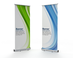 3D Banner Roll-up Stand