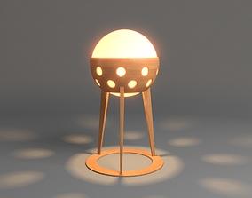 3D Wooden Garden Lamp Design With Light