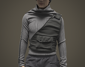 Warm male outfit 3D