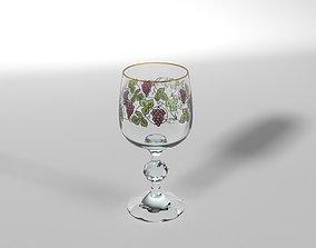 3D model VR / AR ready Wineglass