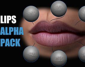 Lips Detail Alpha Pack 3D
