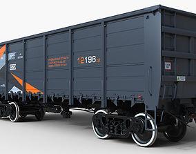 carriage railway 12-196 3D model