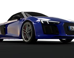 Audi R8 Spyder 3D Model 2017