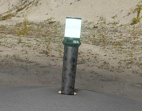 3D asset Galvanized Light-Column -21- Street-Light 9
