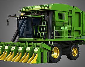 JD - 7760 Combine Harvester - Cotton Picker 3D
