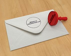 3D printable model Stamp 2 Merry Christmas