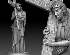 3D print model marble Jesus Carrying The Cross