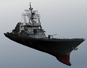 Arleigh Burke class destroyer United States Navy 3D asset