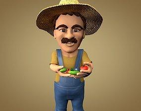 Farmer or Gardener 3D asset