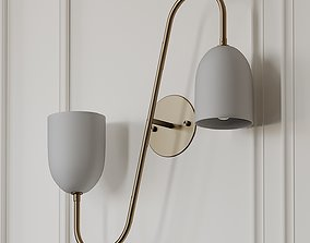 3D Pair of Arredoluce Wall Sconce