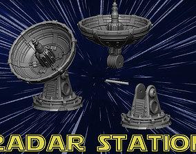 3D print model radar station