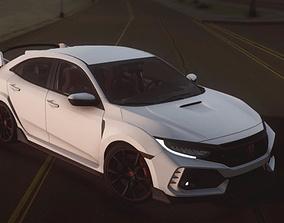 rigged realtime Honda Car 2019 3d Model-HQ