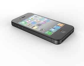 3D model Realistic iphone 4s
