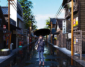 LUMION SCENE TOKYO JAPAN STREET 14 3D model