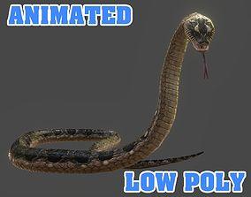 animated Snake 3D model - Animated