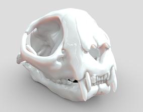 bone Cat skull 3D-printable