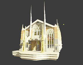 medieval church with pbr textures 3D