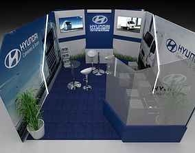 3D model Stand for vehicle sales