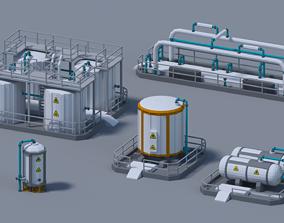 Fuel Tank 4-X 3D asset animated