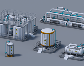 Fuel Tank 4-X 3D asset animated