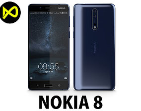 3D Nokia 8 Tempered Blue