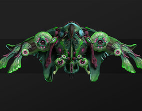 3D model Orchid Manta - lowpoly spaceship PBR