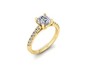 3D print model Solitaire Ring 01