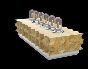 3D model clock hi-tech